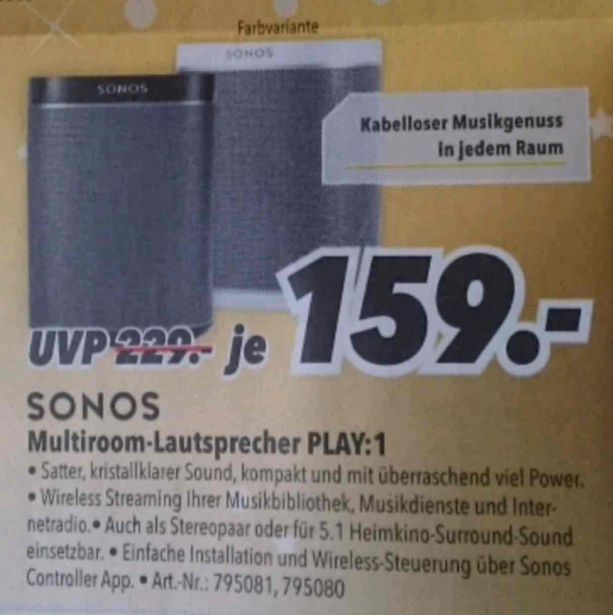 [LOKAL Hamburg] Sonos Play 1 s+w