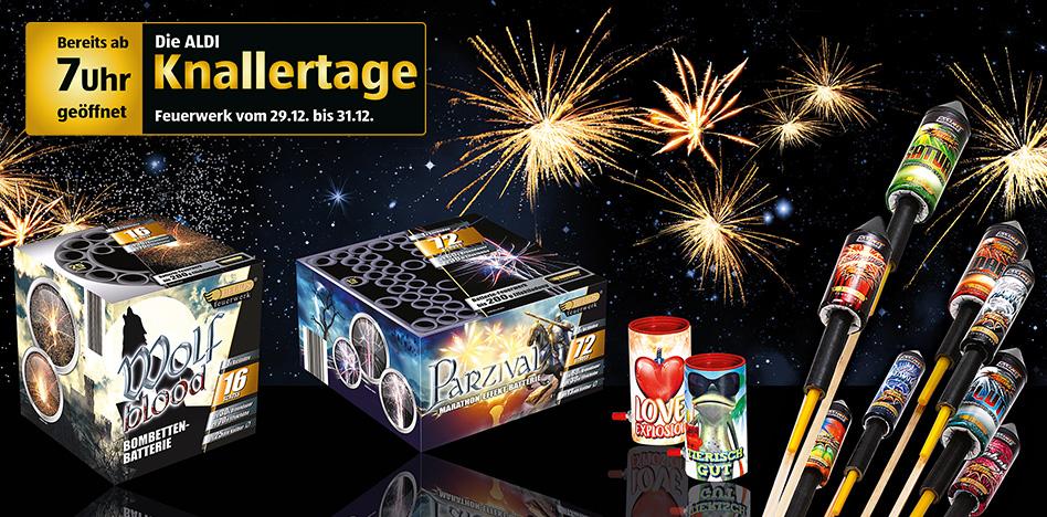 [ALDI SÜD] Übersicht Silvester Feuerwerk - Kaufempfehlung, Videos, Neuheiten, ReLabel (Silvester)