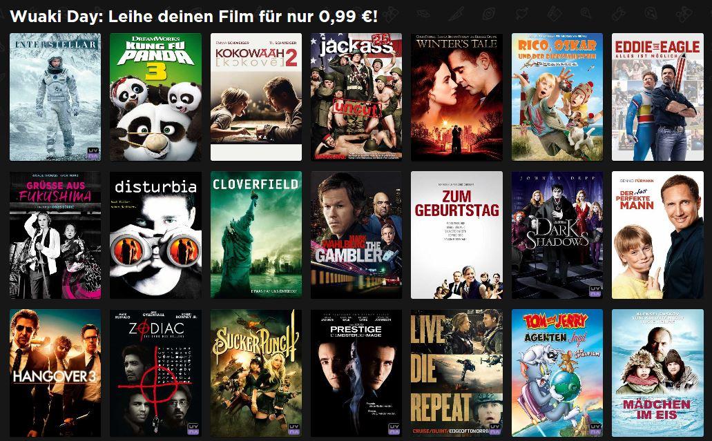 Wuaki Day: 21 Filme [SD] für je nur 0,99€ leihen + 0,50€ Shoop(Qipu)-Cashback möglich