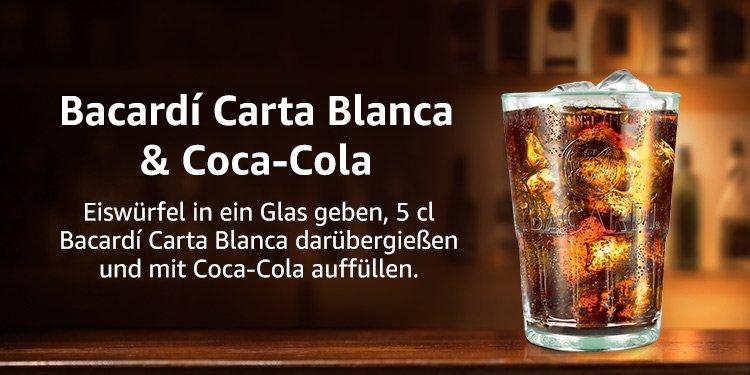Bacardi Longdrinkset inkl Cola mit 20% Rabatt auf Amazon