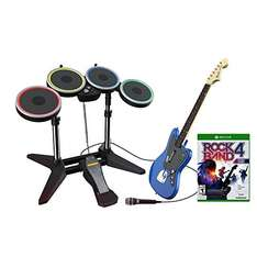 Rock Band 4 + Rivals + Neues Band Kit (Gitarre, Mikrofon, Drums) [Xbox One] für 99,99€