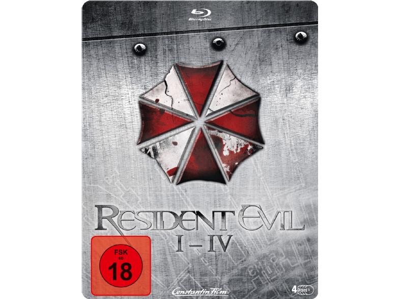 [Mediamarkt GDD] Resident Evil I-IV - Quadrilogy Steelbook Edition [Blu-ray] für 17,-€ Versandkostenfrei