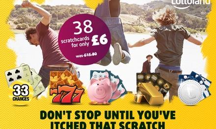 Lottoland.ie: 38 Rubbellose für 6 € statt 18 € (Neu- und Bestandskunden)