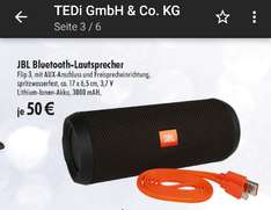 jbl flip 3 bluetooth Lautsprecher  für 50 euro (lokal) ruhrpott