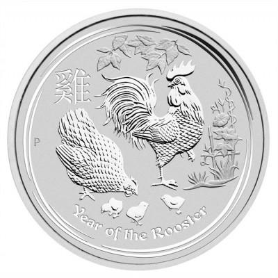 Silber - Lunar II - Hahn - 1oz - für schmale 21,60€