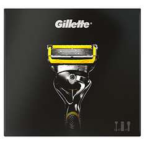 Gillette ProShield Geschenkset Rasierer + Sensitive Rasiergel + Reise-Etui, 1er Pack (1 x 1 Stück)