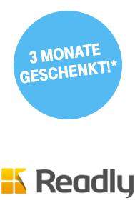 Readly 3 Monate kostenlos +150MB monatl. Datenvolumen (für Telekom-Kunden)