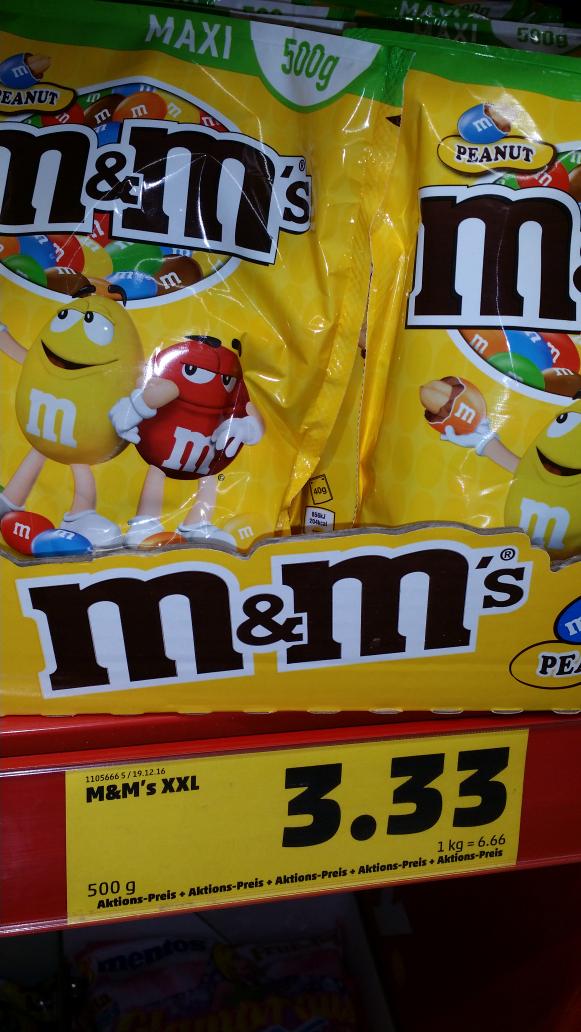 [Penny] m&m's Peanuts 500g für 3,33 Euro