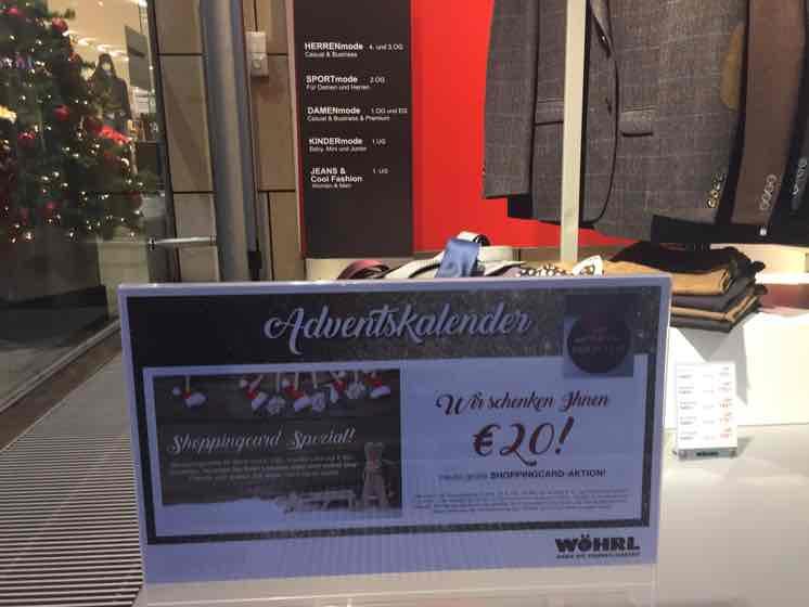 100 EUR gutscheinkarte für 80 EUR wöhrl lokal