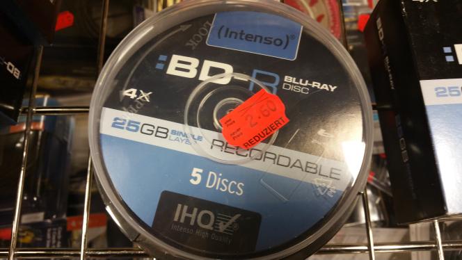 Intenso BD-R 25GB 135min 4x 5 Stück in Spindel