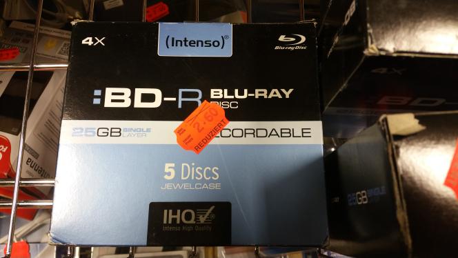 Intenso BD-R 25GB 135min 4x 5er Jewelcase