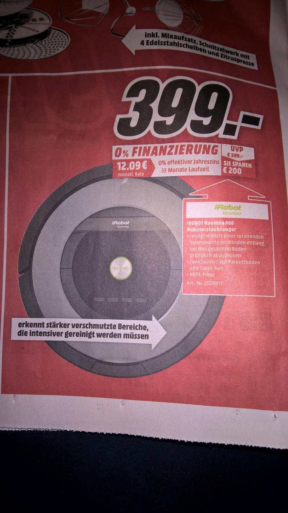 [Lokal] Media Märkte Heilbronn - IROBOT Roomba 866 Staubsaugerroboter