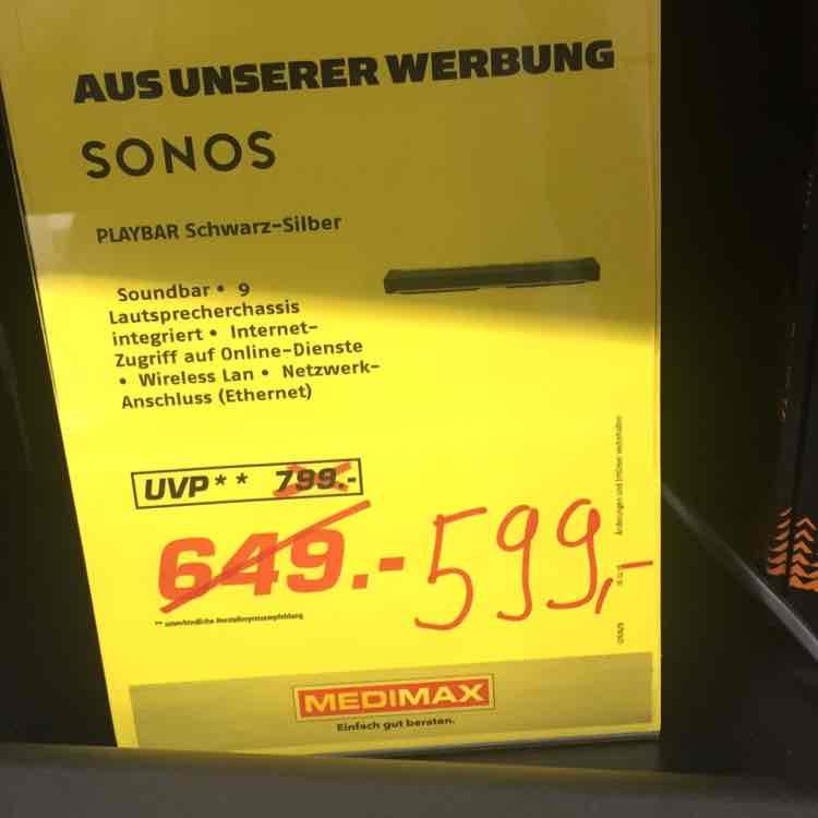 (Lokal Fürth/Stein) Sonos Playbar im Medimax
