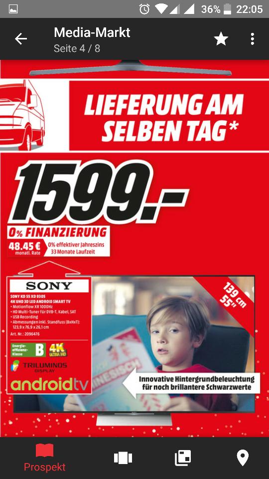 [Lokal Bonn] Sony 55xd9305 für 1599€