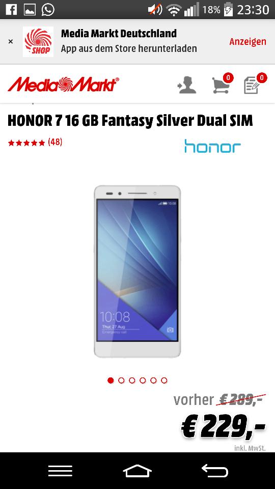 HONOR 7 - 16 GB für 229€