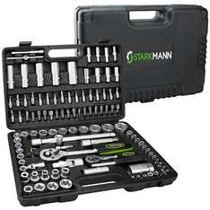 STARKMANN 108tlg Steckschlüssel-Satz Knarren Ratschen Werkzeug Kasten Box Set --> 29,99 €  (Kostenloser Premiumversand und Rückversand )  --> statt 49,99 €