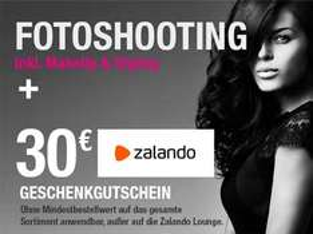 sceneline Fotoshooting + 30€ zalando Gutschein ohne MBW für 25€