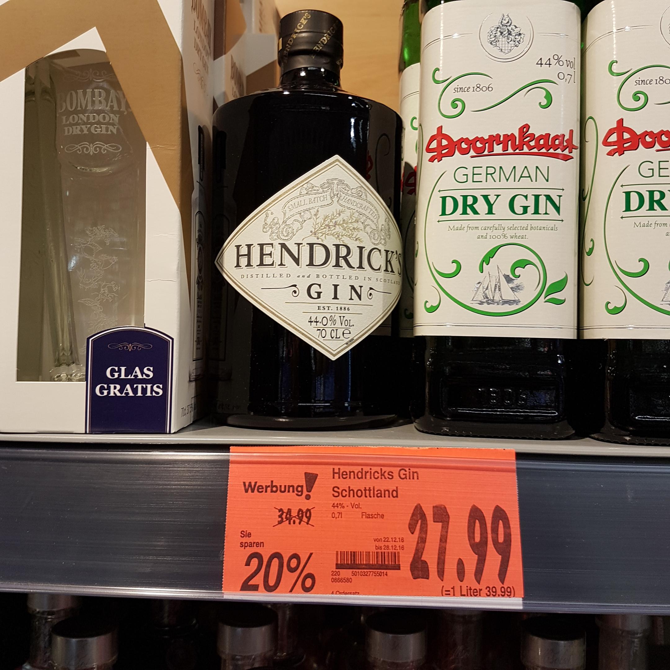 Lokal Kaufland Biberach Riß Hendricks Gin Schottland