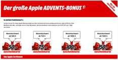 Media Markt: der Apple ADVENTS-BONUS von bis zu 150€