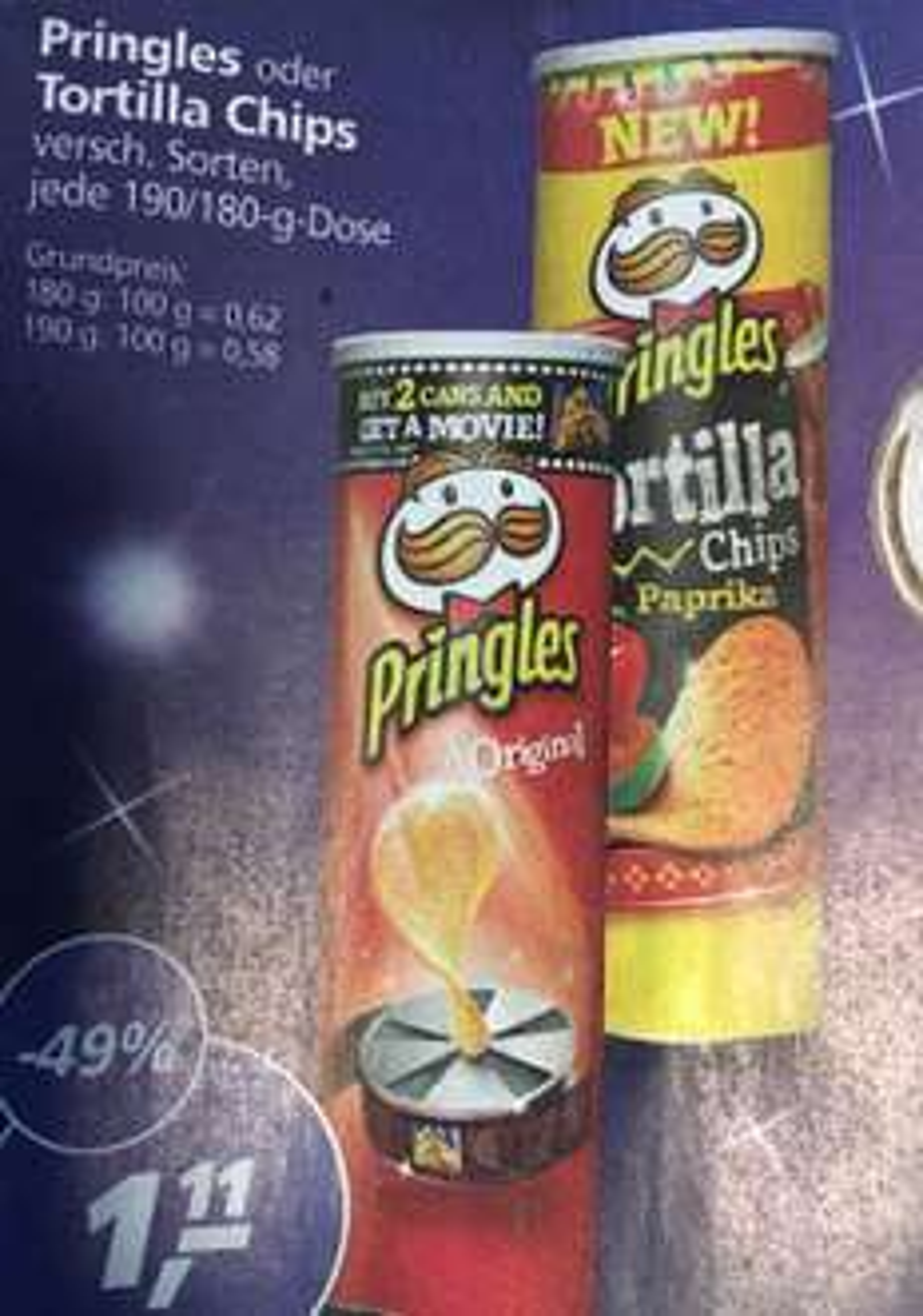 [Real] Pringles versch. Sorten für € 1,11