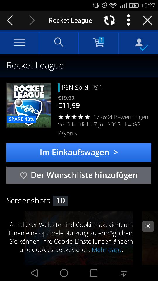 [PSN] Rocket League für PS4 für 11,99€ oder Game of the Year Version für 14,99€