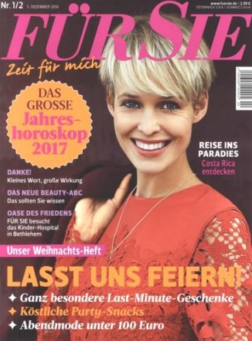 Für Sie Magazin im Jahresabo ab eff. gratis durch 5€ Rabatt und 75€ Zalando-Gutschein, oder 70€ BestChoice-Gutschein