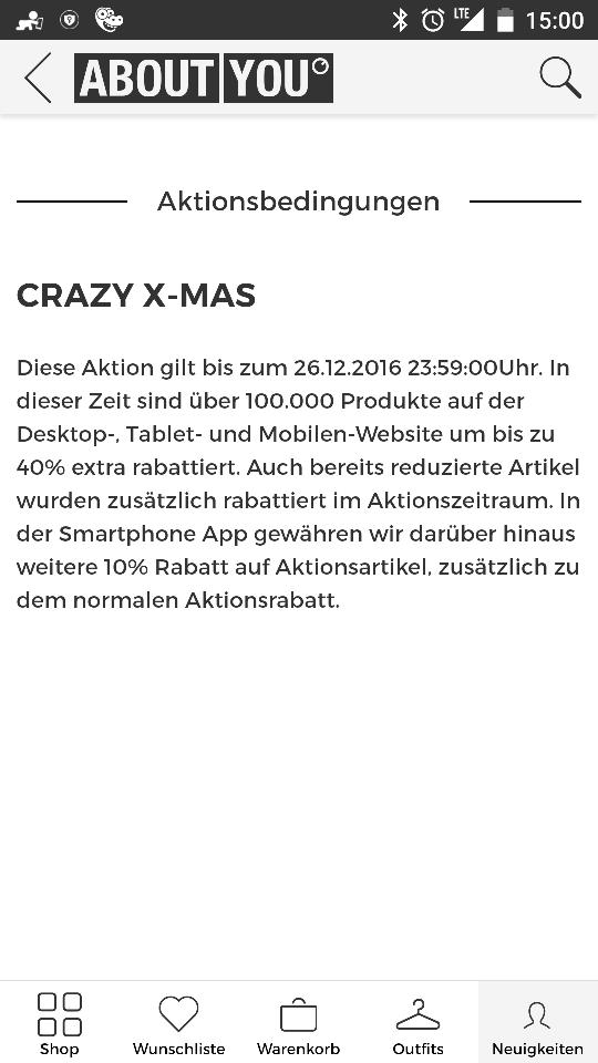Crazy X-Mas bei About You bis zu 50% auf über 100.000 Artikel plus  10% über App