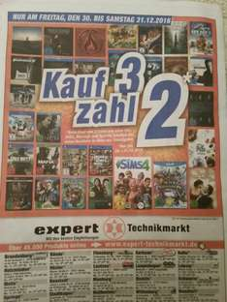 [EXPERT] KAUF 3 ZAHL 2 AKTION AM 30.12 bis 31.12.16