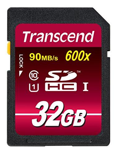 Transcend Ultimate-Speed SDHC Class 10 UHS-1 32GB Speicherkarte (bis 90MB/s Lesen) Ideal für flüssige Full HD und 4K-Videoaufnahmen