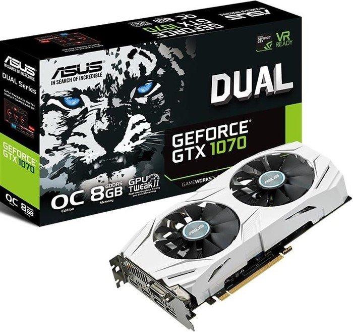 Asus Dual Geforce GTX 1070 OC wieder im Mindstar ab 402,59€ (+30€ Cashback von Asus, Endpreis: 372,59€)