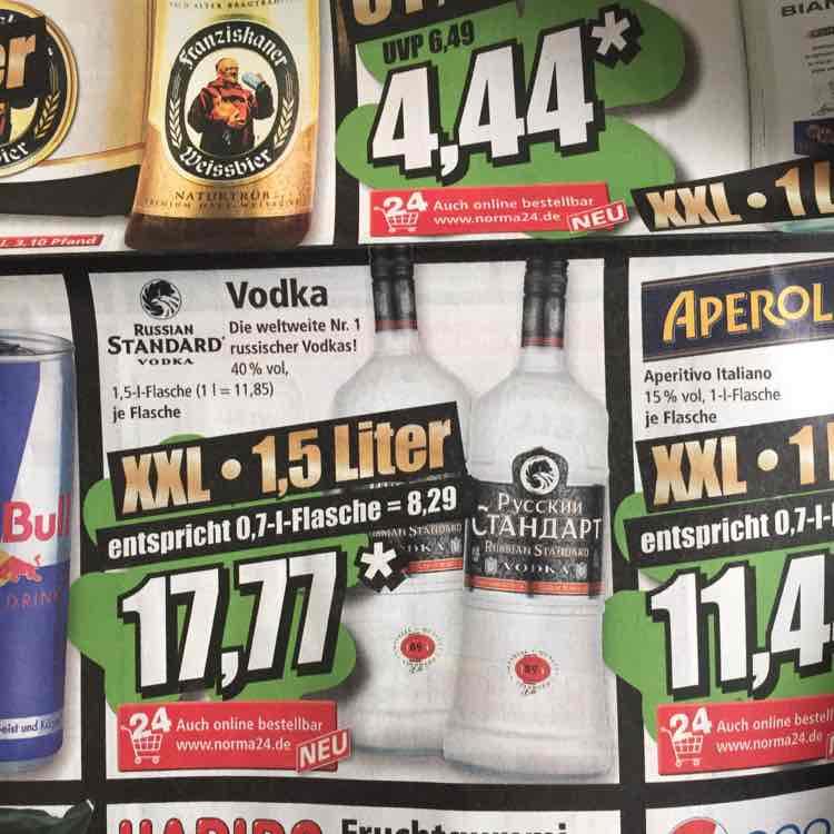 [NORMA] Russian Standard Vodka 1,5l ab 27.12.