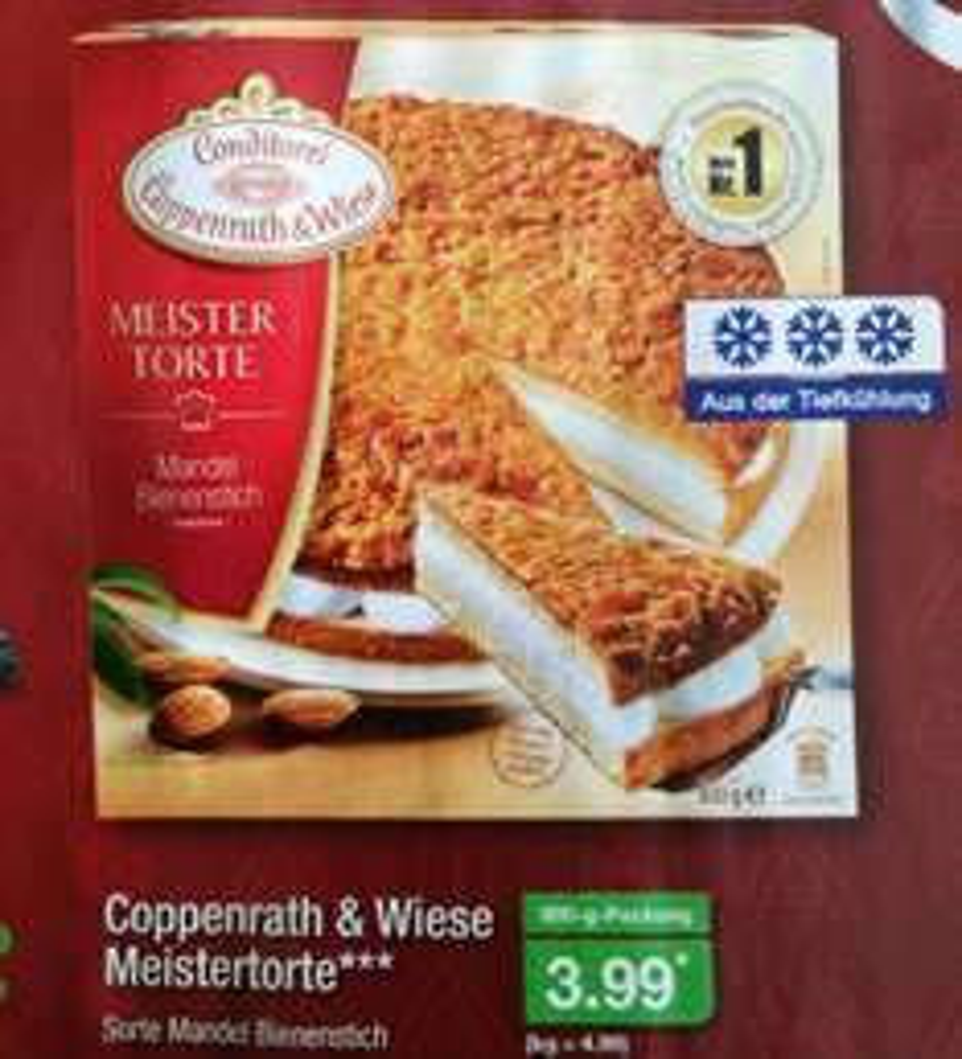 [ALDI-Nord] Coppenrath & Wiese Meistertorte Bienenstich 3,99€