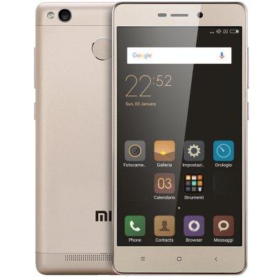 Xiaomi Redmi 3S OHNE LTE + Dual-SIM (5'' HD IPS, Snapdragon 430 Octacore, 3GB RAM, 32GB eMMC, 13MP + 5MP Kamera, Fingerabdruckscanner, 4100mAh, Android 6) für 134,81€ [Gearbest] GOLDEN