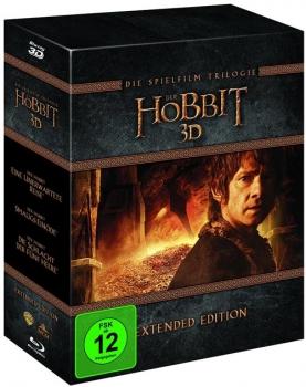 Hobbit Extended Trilogie 3D Blu Ray für 48,94 € bei Alphamovies
