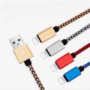 3x 2m-Lightning-Kabel (ohne MFI), geflochten, Versand aus DE