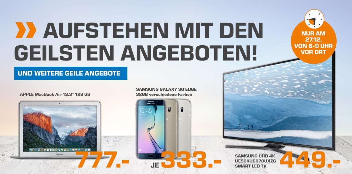 (Saturn Österreich) APPLE MacBook Air 13.3 128 GB für 777 und vieles mehr für Frühaufsteher