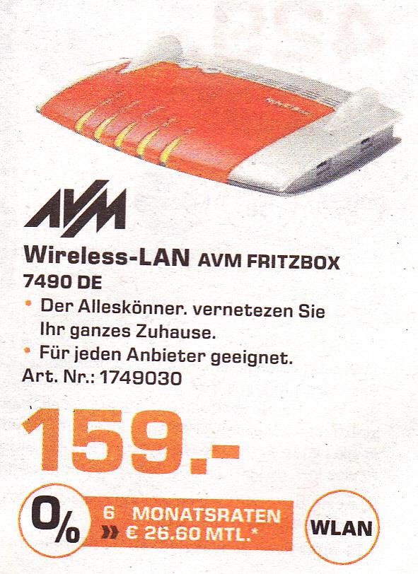 [lokal Saturn Aachen] AVM Fritzbox 7490