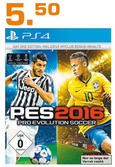 [Lokal Saturn Moers ab 27.12] Pro Evolution Soccer 2016 PES16, Day One Edition (Playstation 4] für 5,50€