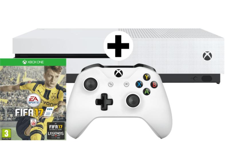 """Xbox One S 500GB + Fifa 17 oder Minecraft Favorites Pack für 198,50€ oder 1TB """"Limited Edition"""" (military green) inkl. Battlefield 1 für 248,50€ [jeweils inkl. Versand nach DE] [Mediamarkt.at]"""