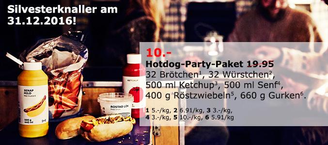 [IKEA Hannover] Hotdog-Party-Paket statt 19,95 Euro für nur 10,00 Euro zum Bestpreis