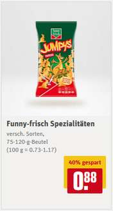 [REWE] Funny-frisch Paprika-Ecken, Ringli, Frit-Sticks, Jumpys, Zwiebli-Ringe, ...