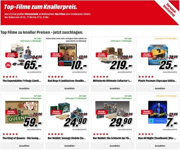 [MM] Media Markt: Top-Filme zum Knallerpreis und 3 Filme für 18 €