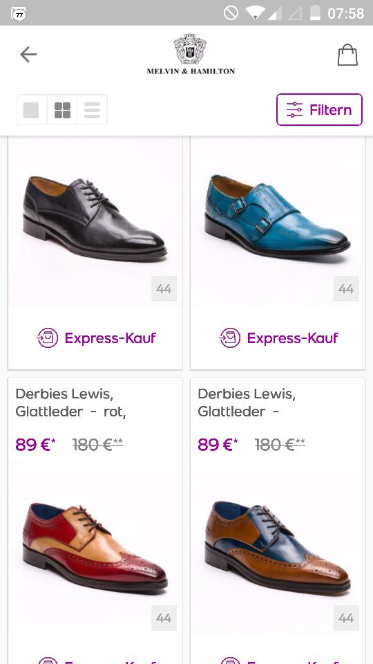 [vente-privee] Melvin & Hamilton Sale -50% Business Schuhe in guten Grössen vorrätig