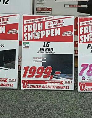 Extra Angebot (lokal mm bischofsheim ) diverse tv's nur am 27.11. 08bis11 uhr im Media Markt.