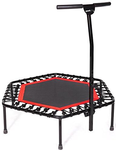 [Amazon] SportPlus Fitness Trampolin, Bungee-Seil-System, Ø 110 cm, bis 130 kg Benutzergewicht