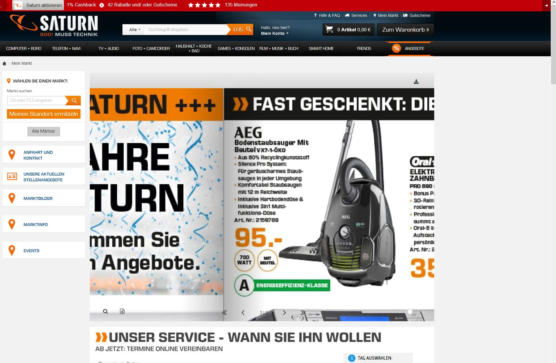 AEG VX7-1-ÖKO Staubsauger Saturn Berlin nur 95 Euro sonst 152 Euro Testsieger 2015