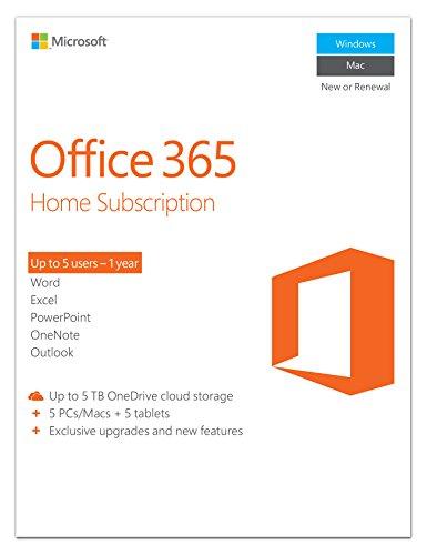 Office 365 Home für 5 PC/MAC (Abonnement/Key für 1 Jahr Nutzung) Downloadversion bei Amazon UK für umgerechnet 47€