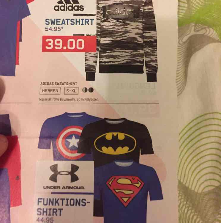 Under Armour Batman und Superman