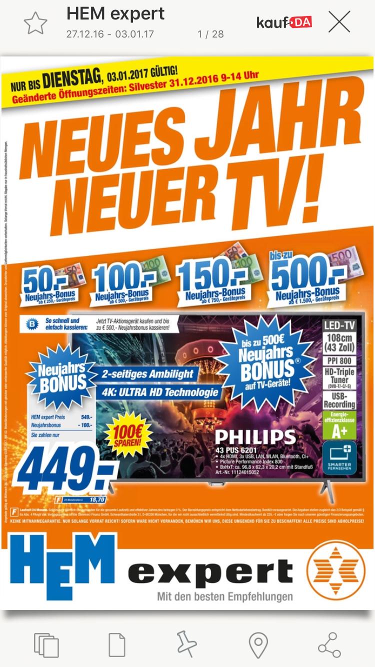 HEM Expert bis zu 500€ Rabatt auf Fernseher nur bis zum 03.01