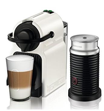 Nespresso Krups XN1011 Inissia Bundle Kaffeekapselmaschine, inklusive Aeroccino 3, weiß + 100 Kapseln [Amazon]